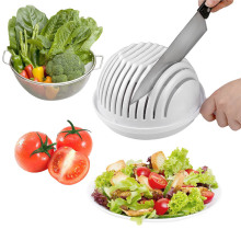 Salad Plates Quick Chop Salad Bowl Kitchen Salads Tool Salad Cutting Bowl Wave Edge Salad Maker Fruit Vegetable Mixture Cutter salad love page 5
