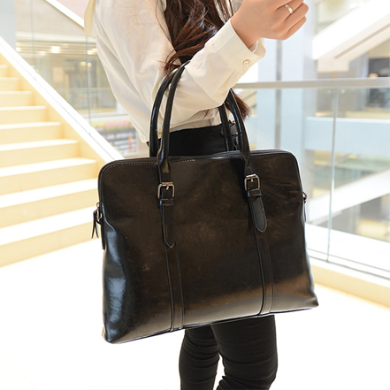 Office Bags For Women Oil Wax Leather Work Bag 14
