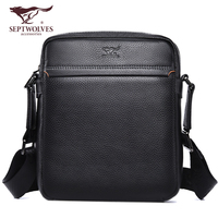 Septwolves Luxury Brand Men Bag Genuine Leather Business Men Shoulder Bags Crossbody Men Messenger Bags