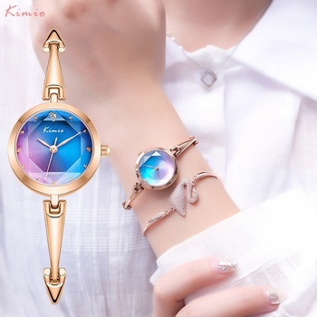 KIMIO Color Women Watches Bracelet Watch Ladies Luxury Jewelry Design Quartz Clock Mechanism WristWatches For
