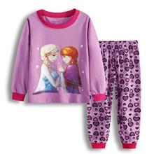 Children's Suit Pajamas At-Home-Wear Frozen Baby-Girl Princess Cartoon Elsa Comfortable
