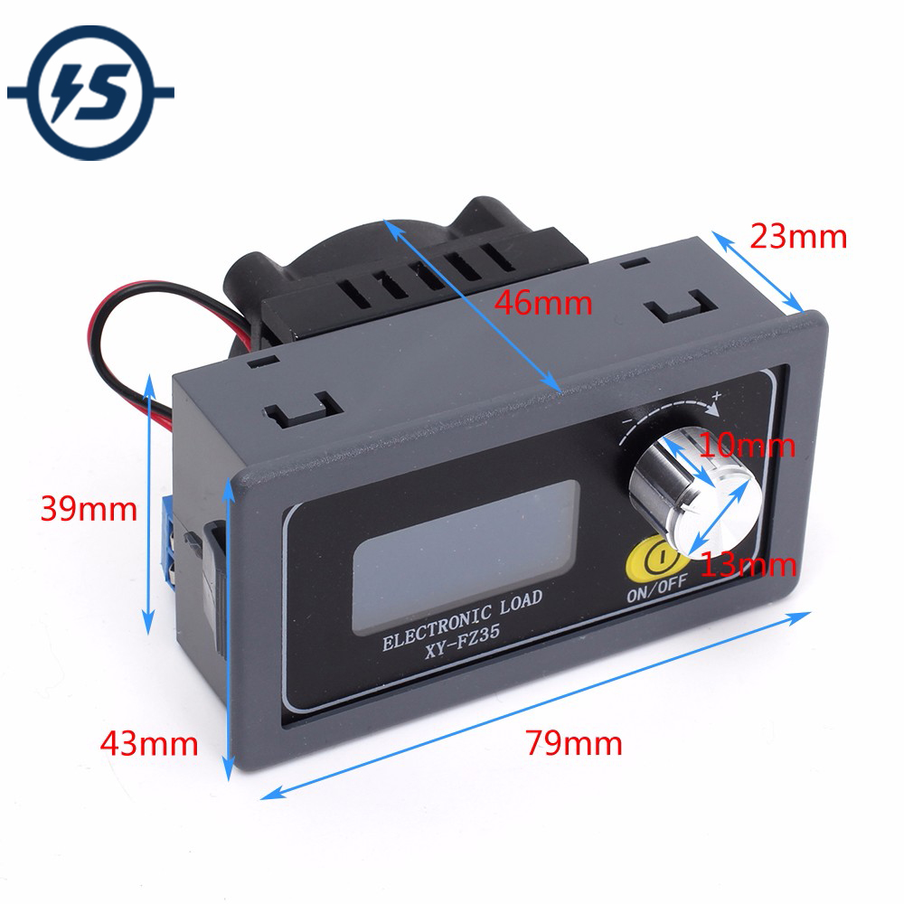 Battery Tester Discharge Capacity Monitor Lithium Acid Adjustable Constant Current Aging Resistor Discharge Load 1.5V~25V 5A 35W