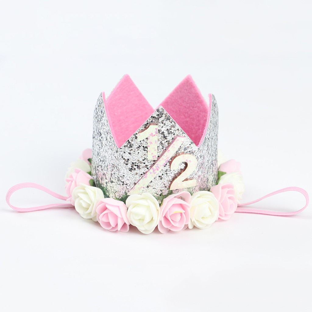 Baby Girls Bow Floral Crown Headband Hair band Head Elastic Kids Headdress DjKOo