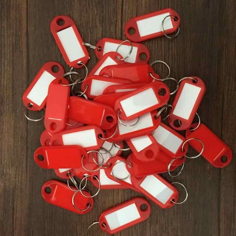1pcs Creative การจำแนกสีการ์ดคีย์แหวนพลาสติกกระเป๋าเดินทางชื่อแท็ก ID LABEL กระเป๋าที่อยู่ป้าย