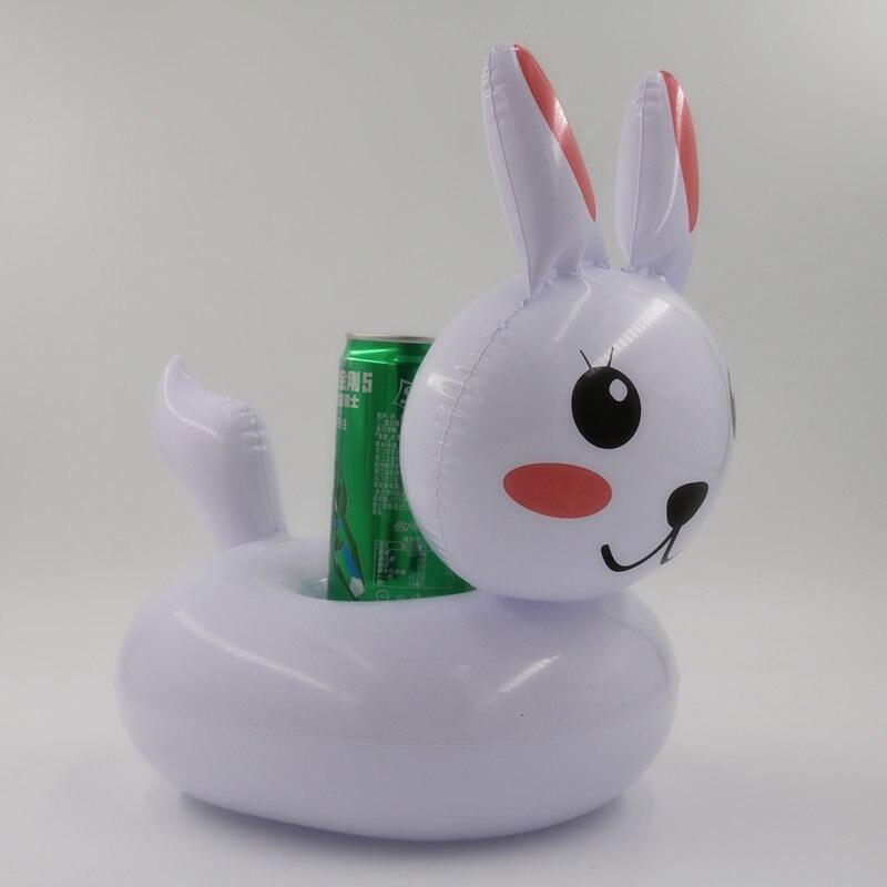 INS vente chaude lapin tasse belle gonflable sous-verres d'eau flottant boisson tasse soucoupe