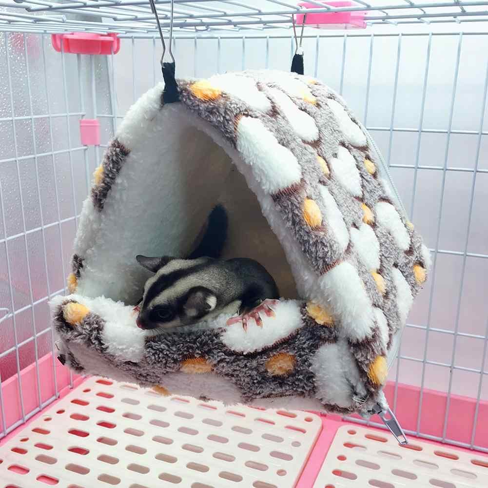 AUGKUN אוגר ערסל קן חם שק שינה להסרה צ 'ינצ' ילות ארנב קטן כותנה קן חיות מחמד מיטת חם ערסלים במלאי