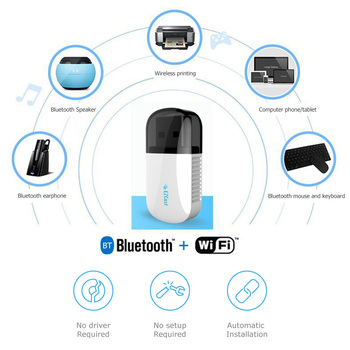 650Mbps Dual Band USB 2.0 WiFi Dongle 2.4G+5.8GHz Network Card Wireless Bluetooth 4.2 Adapter Built Anti-Interference Antenna