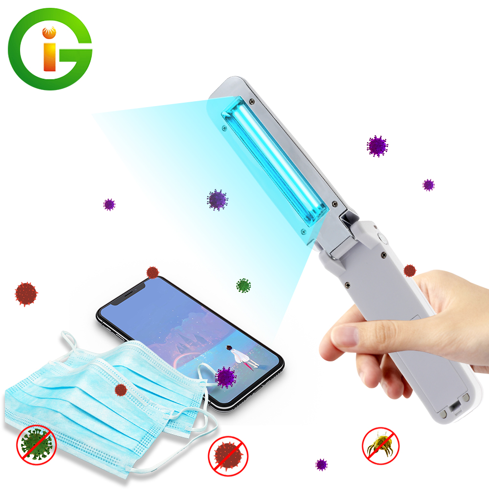 Mini Handheld UVC Sterilization Stick USB Rechargable Personal Care Traveling Sterilizer Disinfection Light For Home