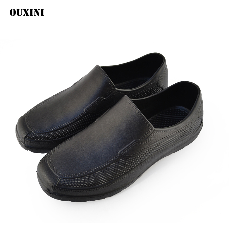 Men's Low-cut Short Tube Fashion Super Light EAV Waiter Shoes Chef Shoes Hotel Restaurant Kitchen Waterproof Work Shoes