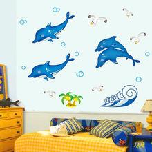 Потолочное украшение для детской комнаты с изображением дельфина