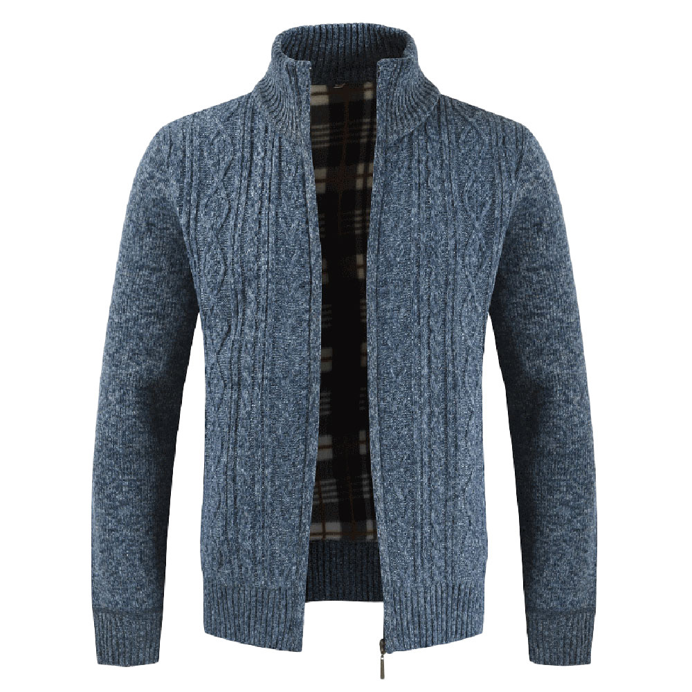 Thick Winter Men Sweater Cardigan Coat Men Slim Fit Jumpers Knitted Sweater Zipper Warm Business Style Pull Homme Men Clothes