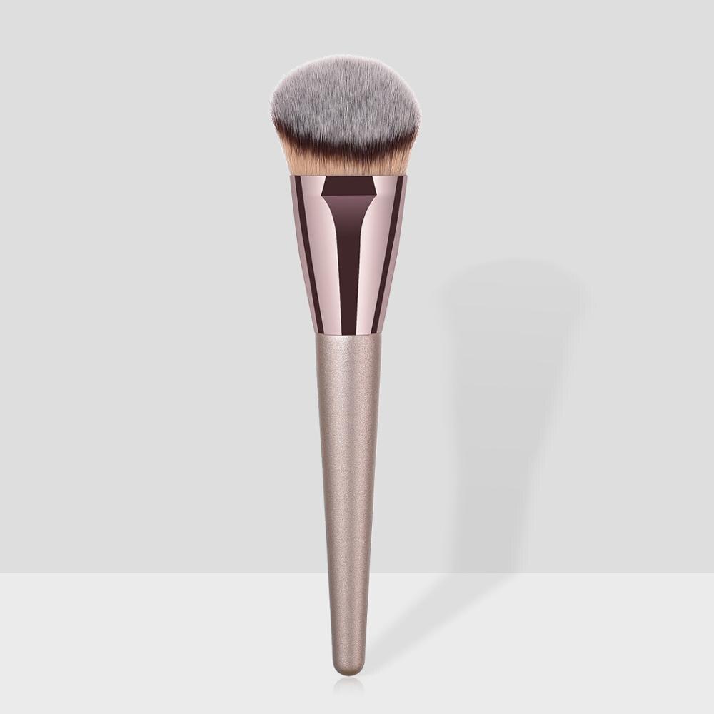 Профессиональная Кисть для нанесения пудры, основы, теней, косметики, роскошные кисти для макияжа цвета шампанского, кисть для ремонта конт...