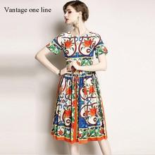 Vantage Plus Size Dashiki Elegant Half Sleeve Autumn Dress Women Vestidos