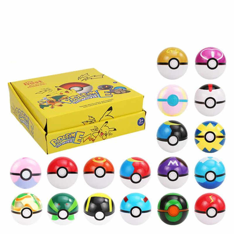 Pokemon Pokeball 8/12 Pc Set 70 Mm Action Figure Pikachu Model Speelgoed Anime Pokemon Monster Poke Ballen Beeldje voor Kinderen Met Doos