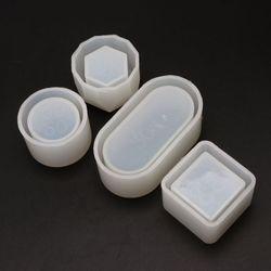 2021 Новый 4 шт. сделай сам, коробка силиконовой смолевой комплект пресс-форм мини круглый квадратный цветочный горшок для хранения пресс-форм