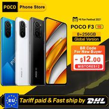 Versão global poco f3 5g 8gb 256gb smartphone snapdragon 870 octa núcleo 6.67