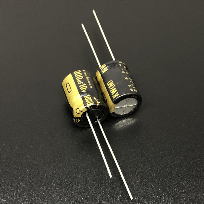 10Pcs 1000uF 10V NICHICON KW Series 10x12.5mm 10V1000uF HiFi Audio Capacitor