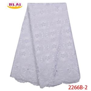 Image 3 - Hot Sale Vải Ren Cotton Phối Ren Cao Fabr Hành Tây Nigeria Vải Ren Châu Phi Váy Đầm Cho Nữ NA2266B 2