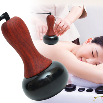 Bianshi Electric Massager GuaSha Scraping Back Lumbar Neck Face Massage Stone Needle Heating Relaxation Meridian Dredge Health electric cupping massage guasha suction scraping slimming massager body device negative pressure meridian dredge physiotherapy