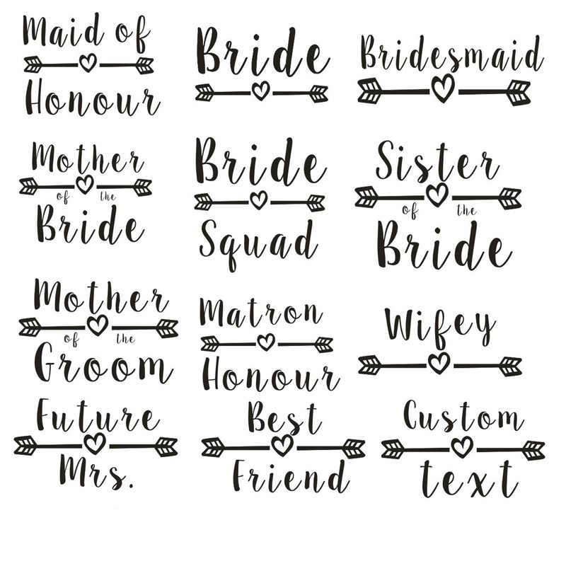 15 farben Braut & Squad Badeanzug Brautjungfer Mutter der Braut/Bräutigam Schwester Badeanzüge Maid von ehren Swimwears