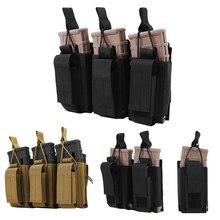 Pochette tactique 1000D Double/Triple Mag Molle, pochette ouverte Triple Magazine, étui de porte-fusil pour M4 M14 M16 AK AR