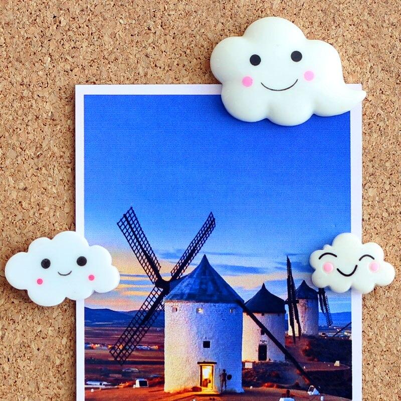 1set Plastic Push Pin Thumbtack Creative Cartoon White Cloud Pushpin Photo Wall Thumb Tack Creative Stationery Office Supplies