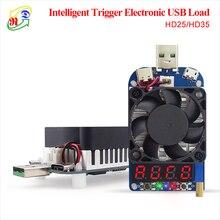 RD HD25 HD35 الزناد QC2.0 QC3.0 الإلكترونية USB تحميل المقاوم تفريغ البطارية اختبار قابل للتعديل الجهد الحالي 35 واط