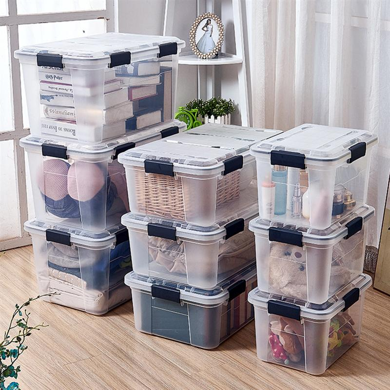 18 L Household Sealed Insect-proof Sundries Storage Box Plastic Moisture-proof Container Organizer Transparent Rice Case
