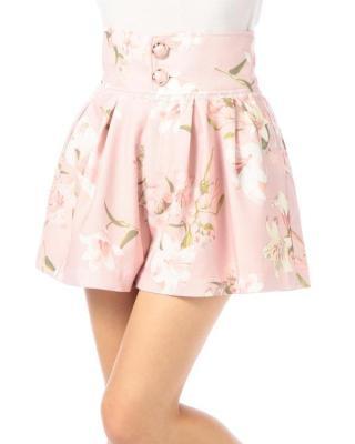 Japan LIZ LISA LILY Printing High Waist Shorts