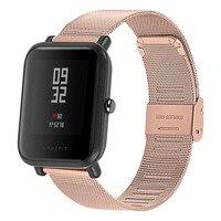 22mm 20mm Milanese Malha Watch Band Para Samsung Engrenagem S3 Esporte Relógio Galáxia 46mm 42mm Ativo bandas Para Huami 2 Amazônia Bip Cinta