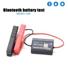 Lancol M 10 Bluetooth 4.0 12V רכב סוללה צג בודק כלי אבחון עבור אנדרואיד IOS הדיגיטלי מנתח סוללה בריאות