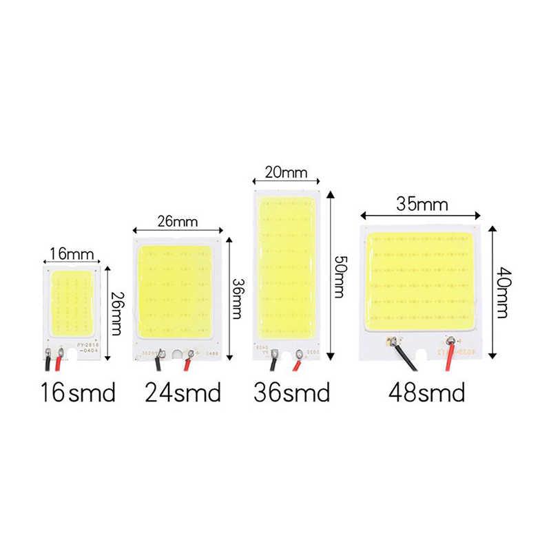 高品質カーインテリアドーム読書ライトT10 W5wフェストゥーンBA9Sアダプタled cobホワイトパネルランプ自動地図トランクライト12v