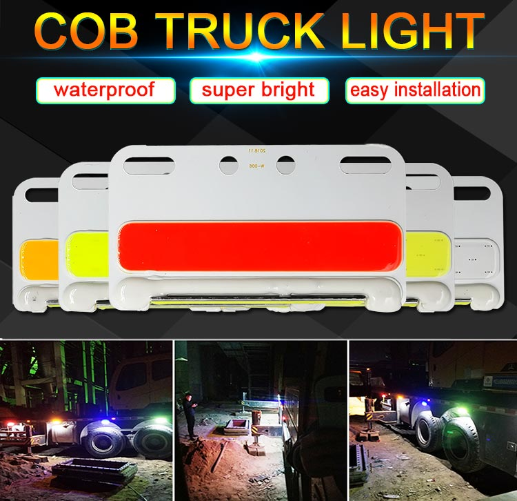 24V COB Truck Lights Turning Lamp White Yellow Green Blue Red Color 24V LED Bulb for Truck Decoration Signal Lamps Lorry Light image