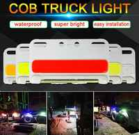24V COB Truck Lights Turning Lamp White Yellow Green Blue Red Color 24V LED Bulb for Truck Decoration Signal Lamps Lorry Light