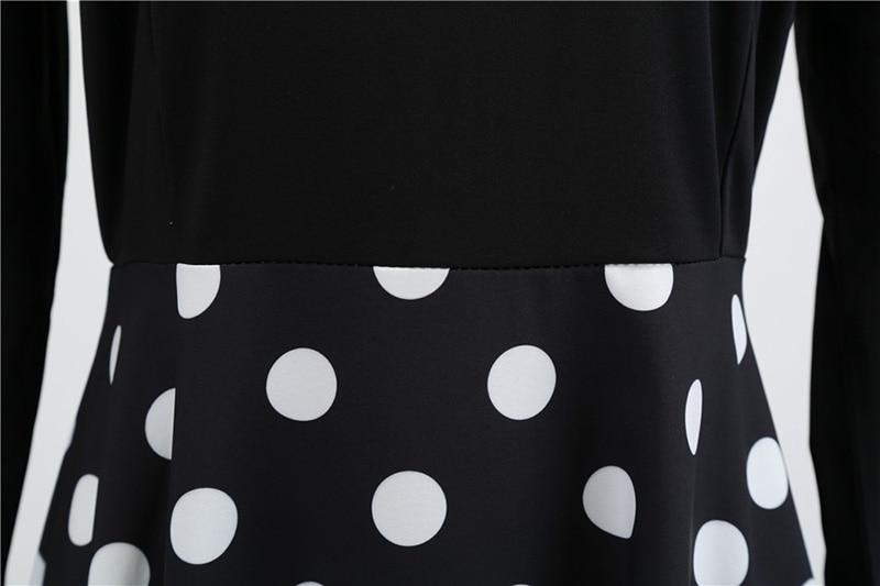 Women Long Sleeve Winter Vintage Dresses Sexy Black Music Note Print V-neck Rockabilly Pin up Party Dress Vestidos Plus size 566