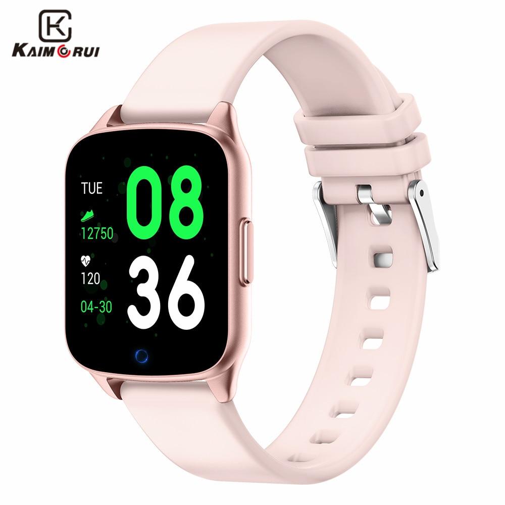 Montre intelligente femme fréquence cardiaque sport podomètre Bluetooth femme Smartwatch tension artérielle Oxyge Fitness Bracelet pour Android IOS