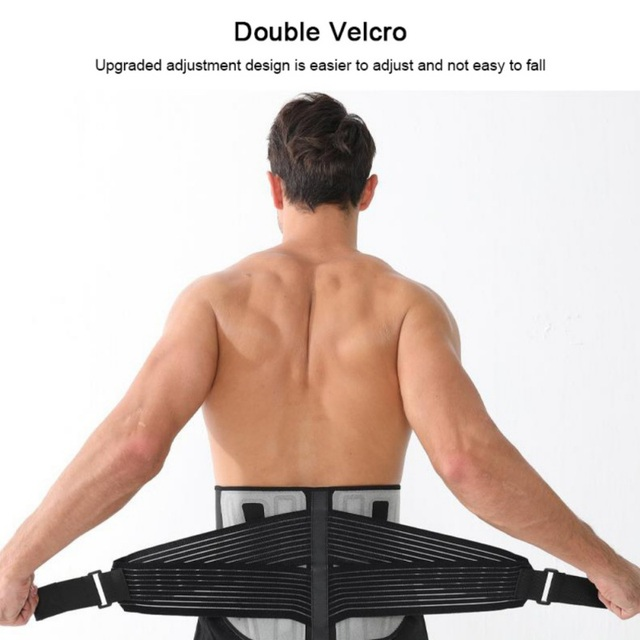 Waist Trainer Men-Waist Cincher TrimWaist Trainer Cincher Trimmer Back Support Sweat Slimming Body Belt Tools NEW 2020 4