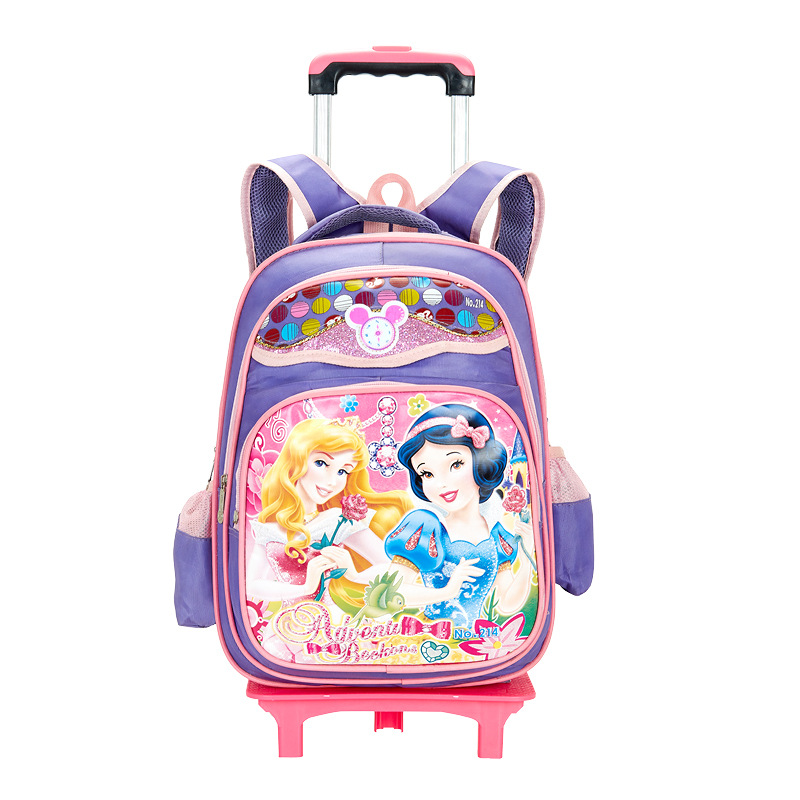 Ming Qi Two-Wheel Trolley Bag Young STUDENT'S 2-5 Grade GIRL'S And BOY'S Waterproof Backpack Children 6-12 A Year Of Age