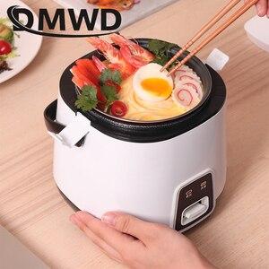 Image 5 - Dmwd 1.2L Mini Elektrische Rijstkoker 2 Lagen Verwarming Voedsel Stoomboot Multifunctionele Maaltijd Koken Pot 1 2 Mensen Lunch doos Eu Us Plug