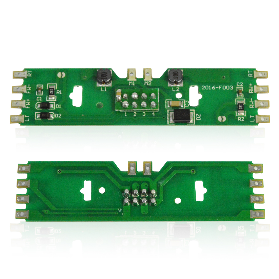 HO 1 87 model train power distribution board with status LEDs for DC and AC voltage railway model train accessory with resistor in Model Building Kits from Toys Hobbies