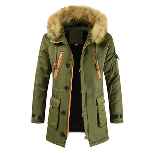 Image 5 - Plus Size S 8XL New Winter Jacket Men Thicken Warm Parkas Casual Long Outwear Hooded Collar Jackets and Coats Mens Veste Homme