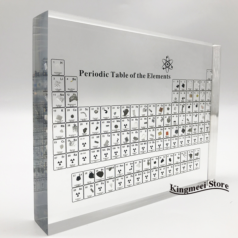 Large Stock Acrylic  Periodic Table  Chemical Periodic Table Acrylic Crystal Physical Periodic Table Gifts  Real Elements inside 5