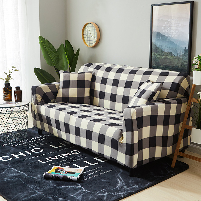 HOUSEMIFE Stretchable L Shaped Couch Cover for Living Room Single to 4 Seated Sectional and Corner Sofa 3