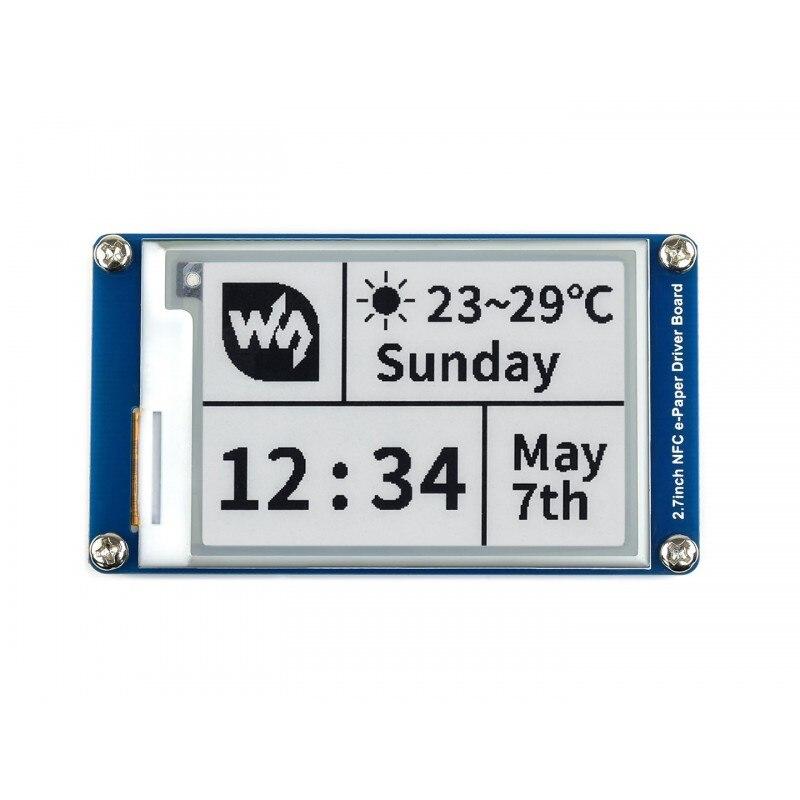 Электронная бумага eInk Dislay, 264 × 176, 2,7 дюйма, NFC, поддерживает беспроводное питание и передачу данных, предоставляет приложение Android
