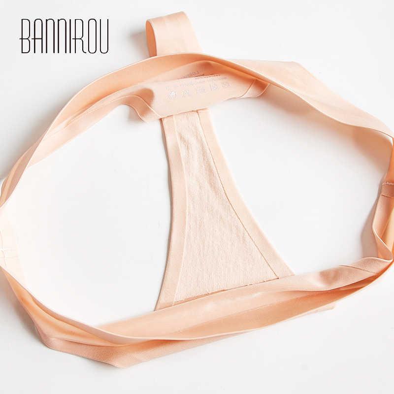 1 Pcs Vrouw Ondergoed Naadloze Ijs Zijde Panty Sexy Sport Vrouwelijke T-Back Solid Soft G-string Thong Voor Vrouw nieuwe Slipje Bannirou