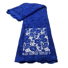 Cord-Fabric Lace Guipure Party-Dress Eembroidery African with Stones for Nn821 A Classic