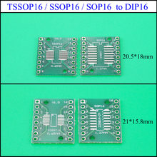 YuXi TSSOP16 SSOP16 SOP16 Transfer do DIP16 IC Adapter konwerter gniazdo moduł tablicy adaptery płyta 0.65mm 1.27mm(China)
