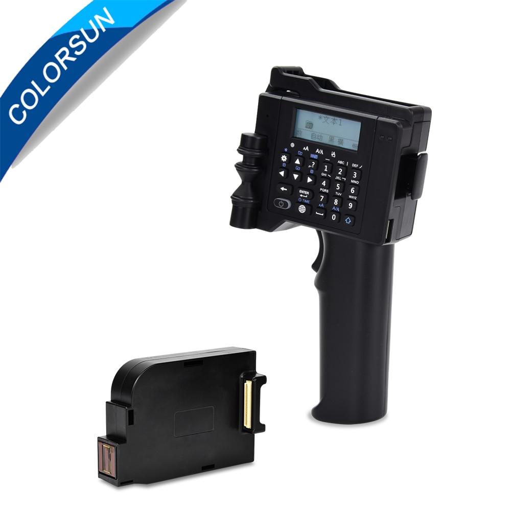 Colorsun Handheld Printer 600DPI Intelligent USB QR Code Inkjet Label Printer Coding Machine Portable For QR Code LOGO Bar Code