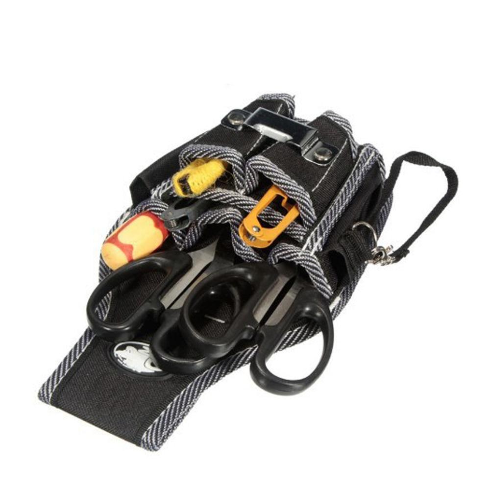 Переносной 9 в 1 дрель отвертка, инструмент набор держателя высшего качества полиэстер Электроинструмент талии карманный инструмент