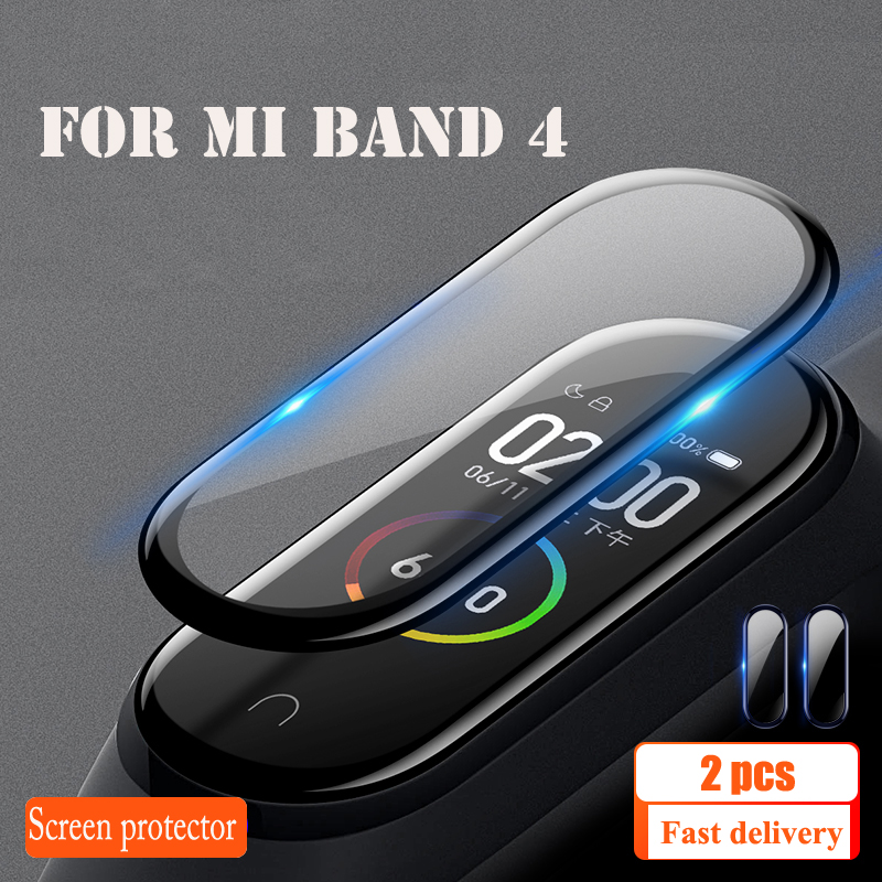 Protective Film For XiaoMi Band 4 NFC Wristband Screen Film Mi Band 4 Glass Explosion-proof/scratch Prevention Screen Protector